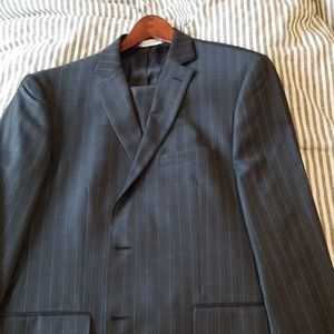 Perry Ellis Grey and Blue Suit